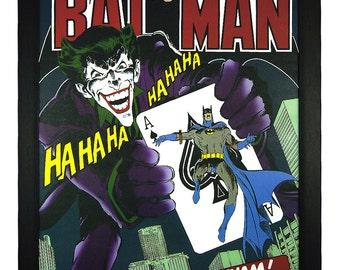 """Joker, Batman, Look Out Gotham DC Comics 24""""x36"""" Framed Poster"""