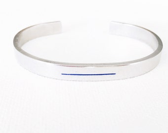 Thin Blue Line Bracelet, LEO Jewelry, Thin Blue Line Jewelry, Back The Blue