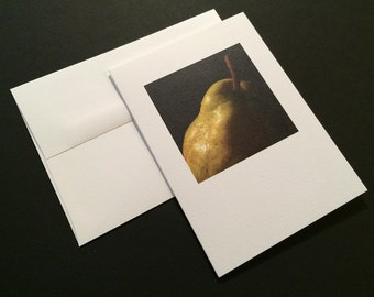 Pear, Close up. Blank Greeting Card. Note Card. Photo Card.