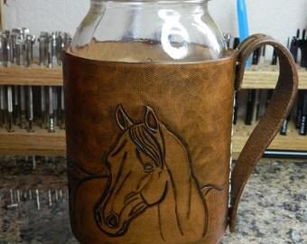 One Quart Mason Jar Drink Holder