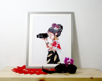 Print. The box which saves time. 32 x 44, 5 cm.