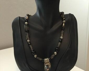 smokey quartz pendant necklace