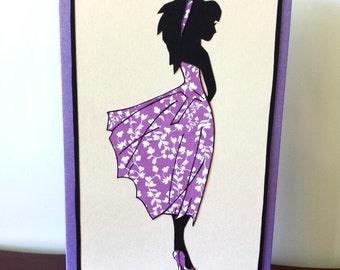 Greeting Card - Fashion Silhouette