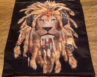 Rasta Lion Accessory Pouch