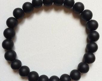 Matte black Onyx 8mm bracelet