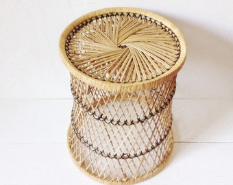 1970's wicker plant stand
