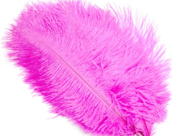 6-8 Inch Hot Pink Ostrich Feathers. (5) Pink Feathers for Wedding Decor. Costume Feathers. Fascinator Feathers. Ostrich Drab Feathers.