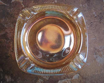 Vintage Peach Luster Ashtray - Item #1045