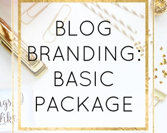 Custom Blog Branding - Pro Package - Perfect For Bloggers - Perfect For Small Business Owners - Blog Branding - Blogger