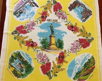 Vintage Adelaide Souvenier Tablelcloth