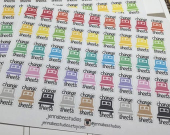 Change Sheets Planner Stickers - Perfect for Erin Condren, Plum Paper, Happy Planner, Kikki K and More! 077