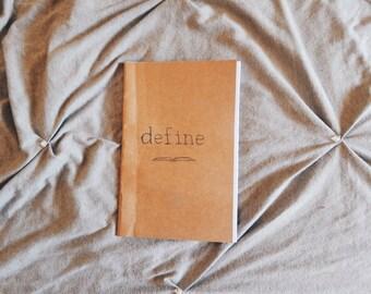"""Sample Chapbook Titled: """"Define"""""""