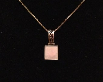 Ebony & Ivory sterling silver pendant with 30 inch sterling silver necklaces