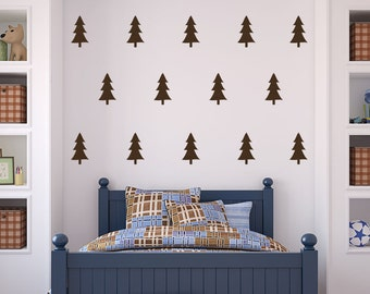 Camping Decor - Pine Tree Wall Decal - Tree Wall Decal - Camping Decal - Tree Decals - Forest Wall Decal - Camping Nursery Decor