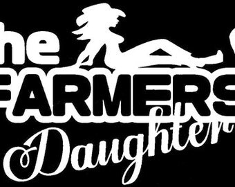 The Farmers Daughter Vinyl Sticker