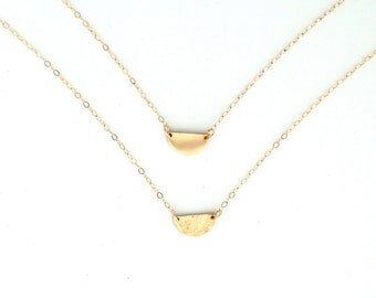 Half moon gold necklace - perfect for layering!