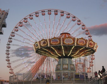 Travel Photography, Fine Art Photography, Ferris Wheel, Wildwood boardwalk