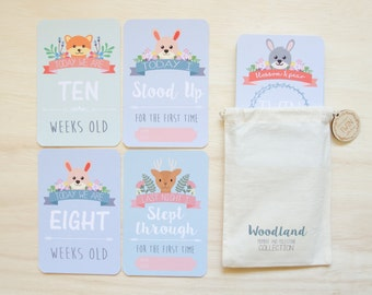 Twin Baby Milestone & Moment Woodland Collection