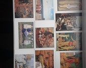"Vintage set of 16 postcards on topic ""Masterpieces of Soviet art"" by Tretyakov State Gallery.Printed in USSR in 1986"