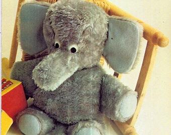 Genuine Vintage Fluffy Ultra-Cute and Cuddly Elephant Teddy Toy Magazine PDF