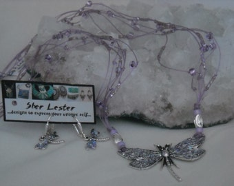 Lavendar Dragonfly Set