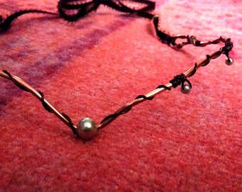 Wire wrapped Renaissance-style Crown