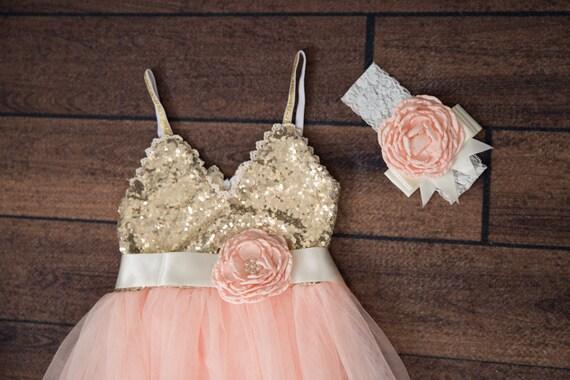 popular light gold flower girl dresses