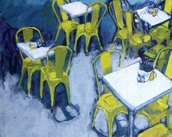Yellow Chairs Acrylic on Canvas