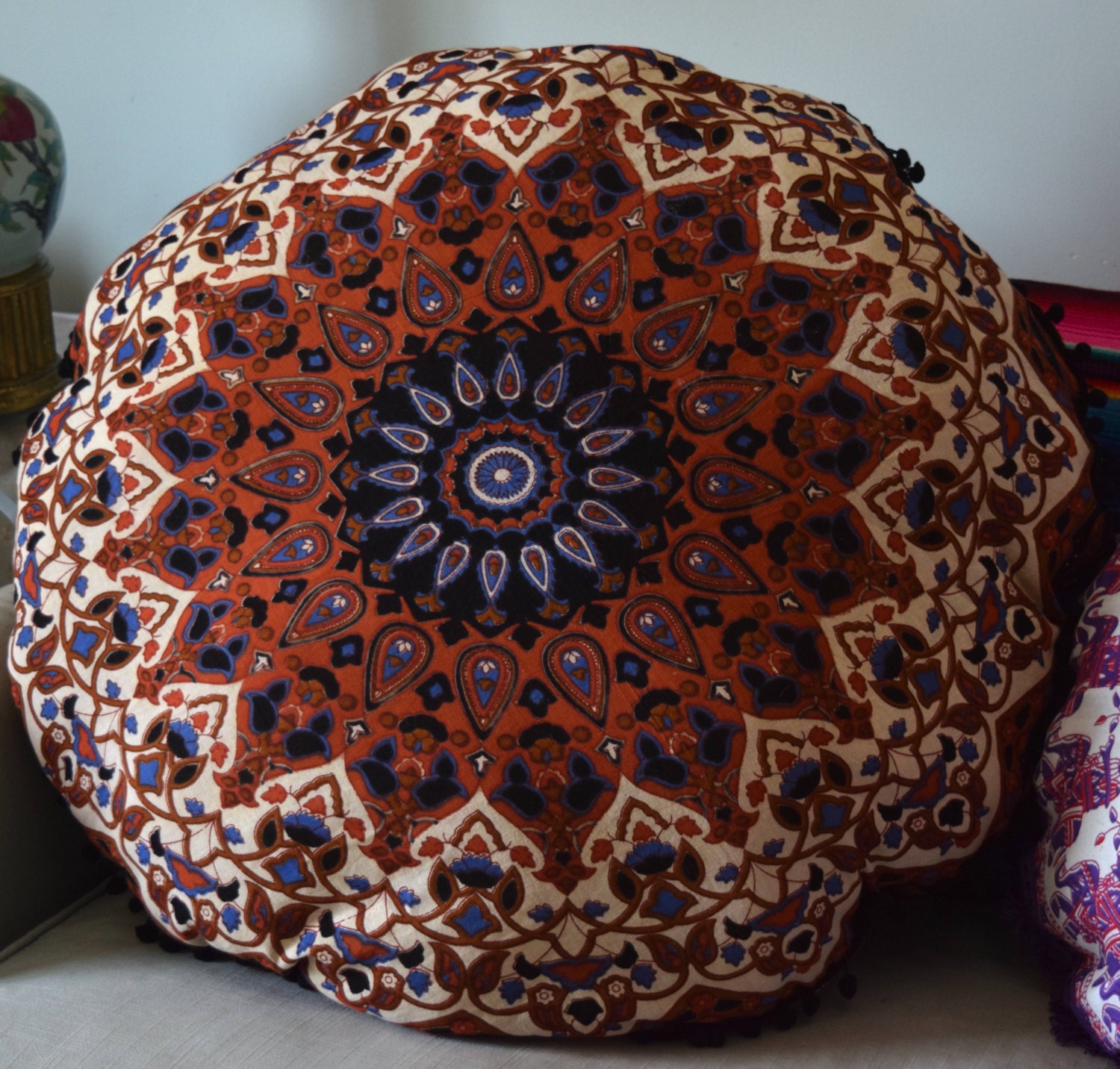 Giant Bohemian Floor Pillows : Huge mandala tapestry cushion cover boho floor pillow