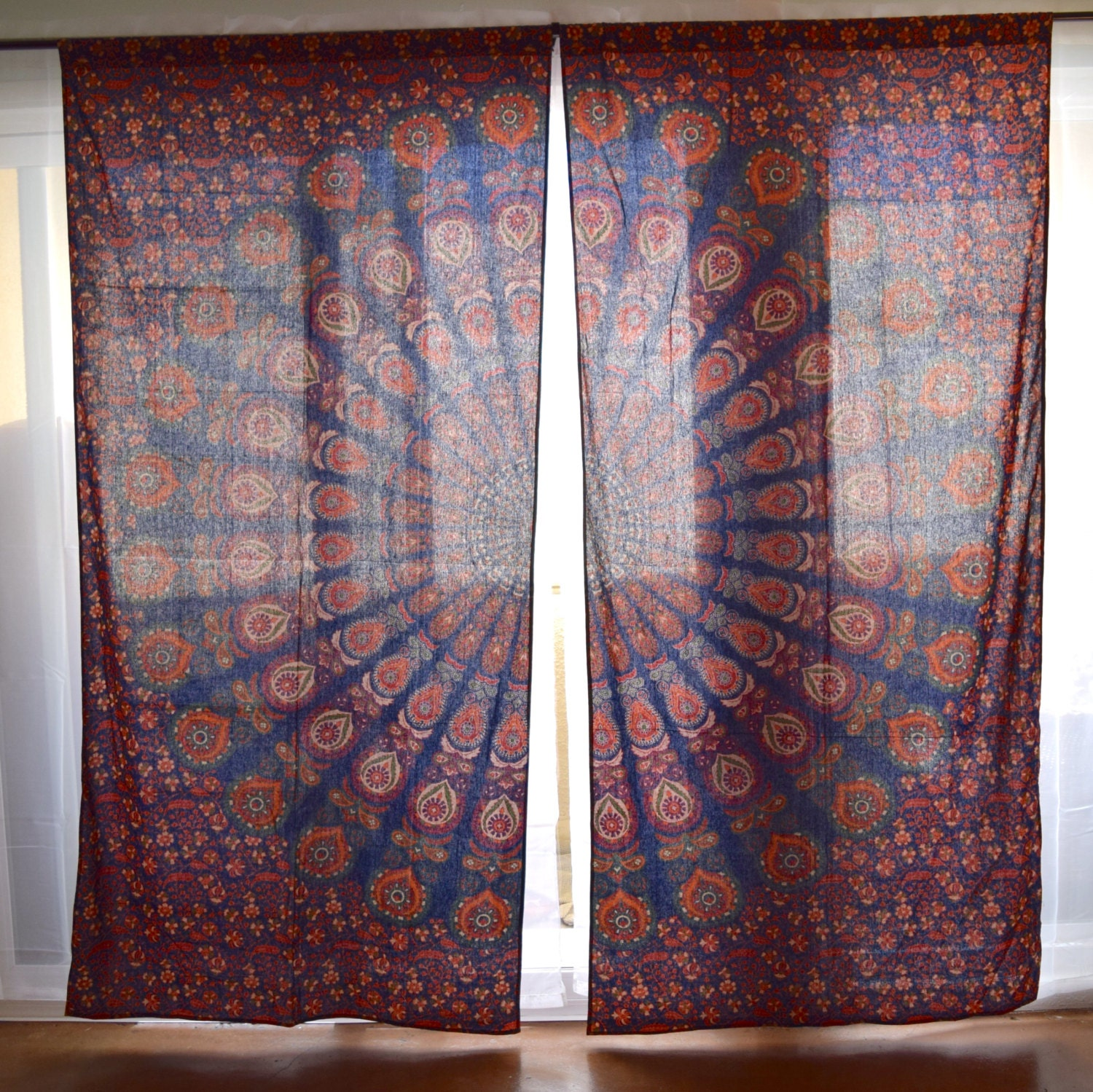 Boho window curtains - Mandala Tapestry Curtains Boho Curtains Tapestry Drapes Mandala Wall Hanging Indian Curtains