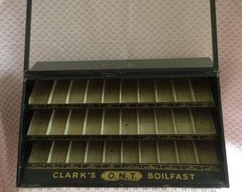 Clark's O.N.T.  Boilfast Thread Spool Metal Display Cabinet