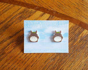 Totoro Inspired Earrings