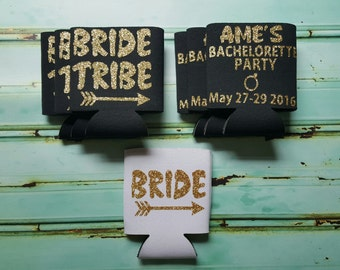 Set Of 7 Bride Tribe Can Coolers