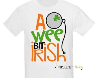 A Wee Bit Irish St Patricks Irish T Shirt Top Gift