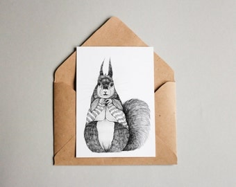 Squirrel | A6 Print