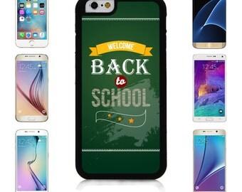 Cover Case for Apple iPhone 7 7 Plus 6 6S Plus Samsung Galaxy S7 Edge S6 Plus Note 5 6 7 8 9 10 att sprint verizon Welcome Back School