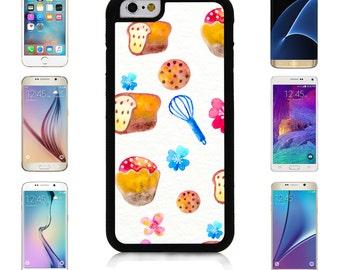 Cover Case for Apple iPhone 7 7 Plus 6 6S Plus Samsung Galaxy S7 Edge S6 Plus Note 5 6 7 8 9 10 att sprint verizon Hand Painted Bakery