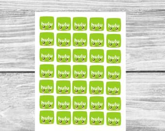 Kawaii Hulu Planner Sticker