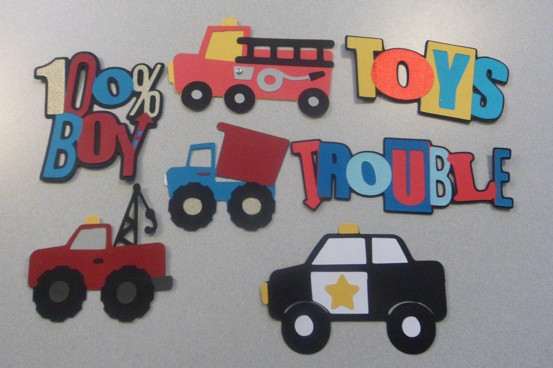 Boys And Their Toys : Boys and their toys cricut die cuts