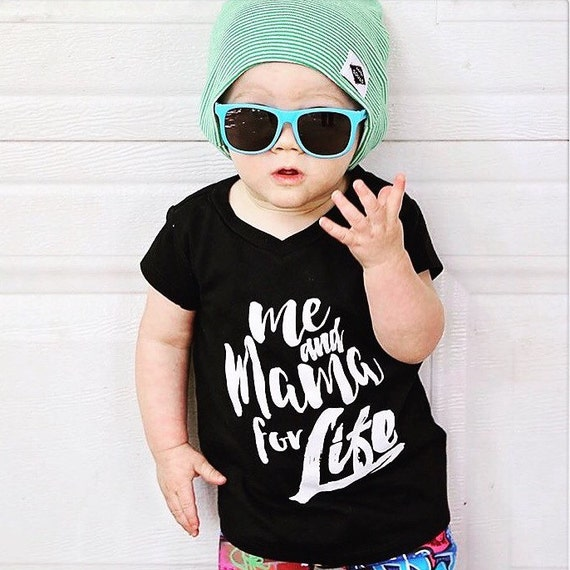 hipster baby boy or baby girl clothes modern kids tee gift