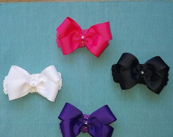 Hairbow with Headband Attached for Girl