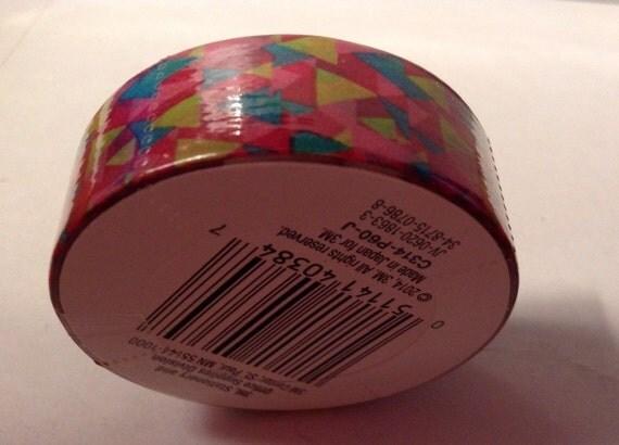 Multi colored geometric washi tape full roll scotch for Geometric washi tape designs