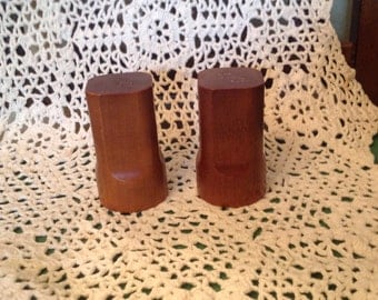 Teak wood salt & pepper shakers