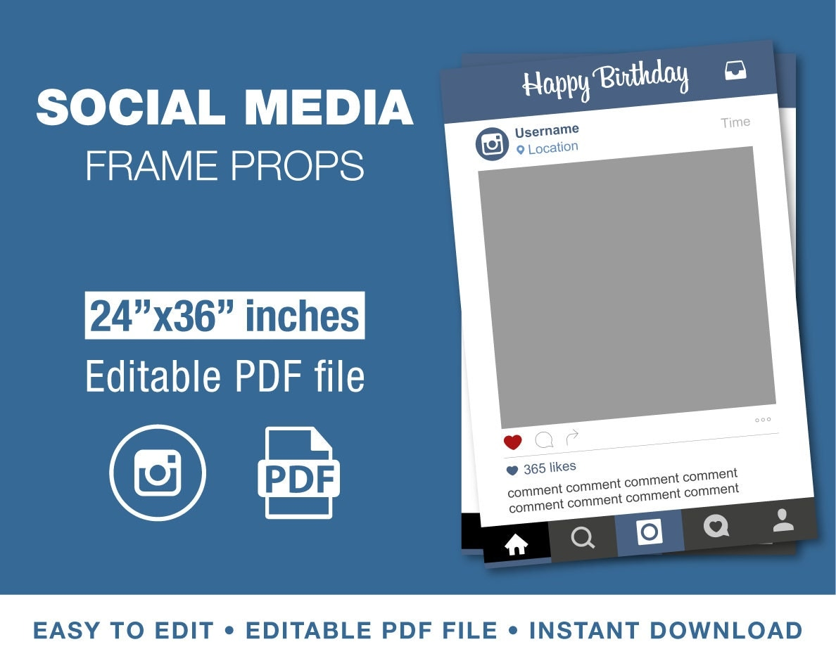 instagram border template popular items for photo prop on