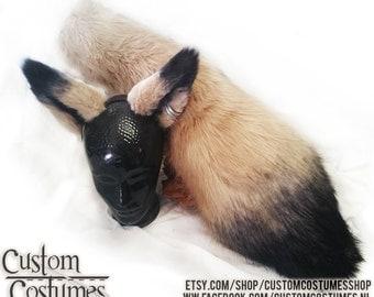 Blond and Black Fox