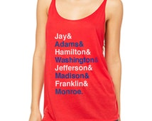 Women's Fourth of July Shirt - Patriotic Relaxed Fit Tank Top - Founders Tank