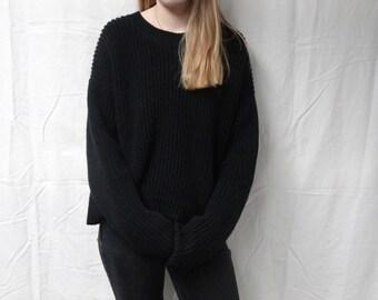 Vintage Black Knit Sweater