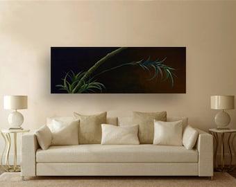 "Acrylic Painting on canvas 72"" - ""Bamboo"" - Original art By Amit Yalin"