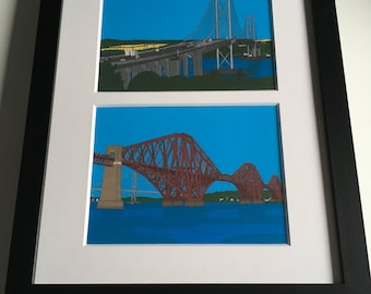 The Forth Bridges Print Display