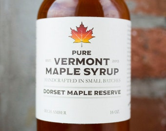 Pure Vermont Maple Syrup - Rich Amber  16oz